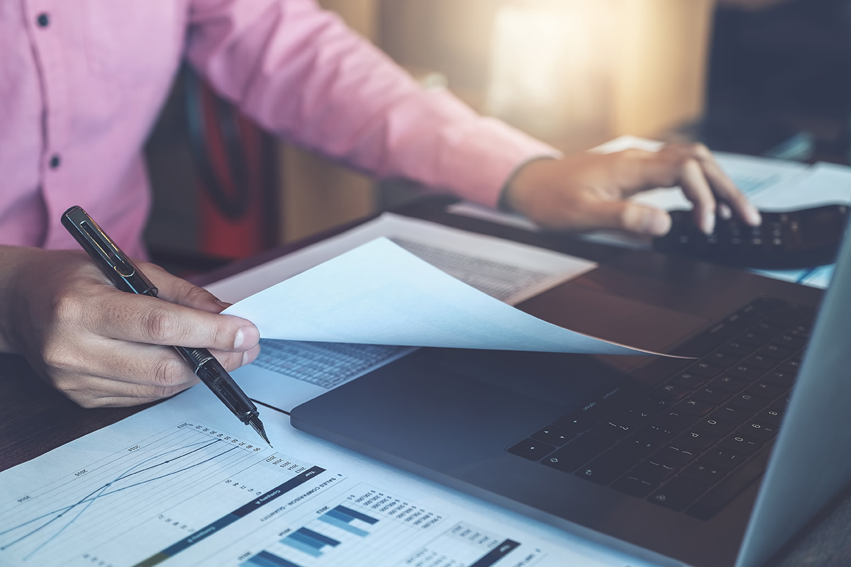 Tax Prep Desk & Computer