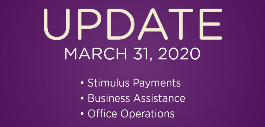 Office Update - March 31, 2020
