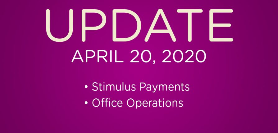Office Update - April 20, 2020